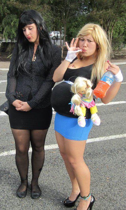 goth and bogan preggarz chick lol