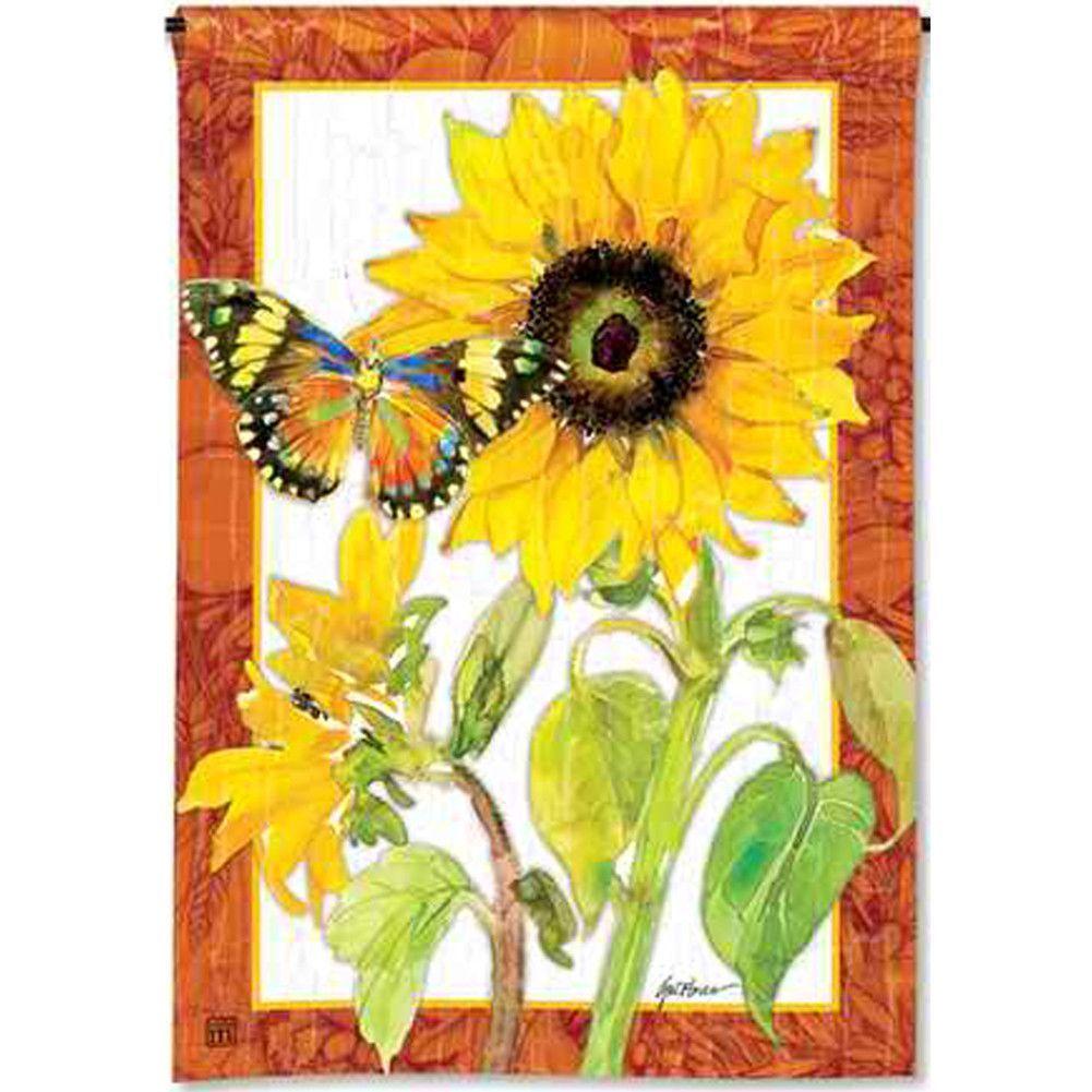 Golden Sunflower Garden Flag