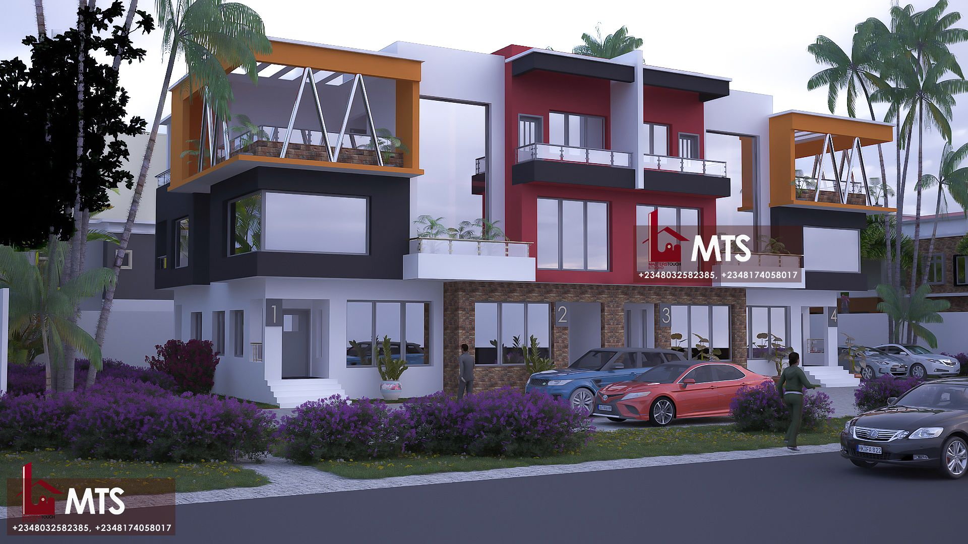 4 Units Terrace Duplex Duplex Design Modern Small House Design Duplex House Plans