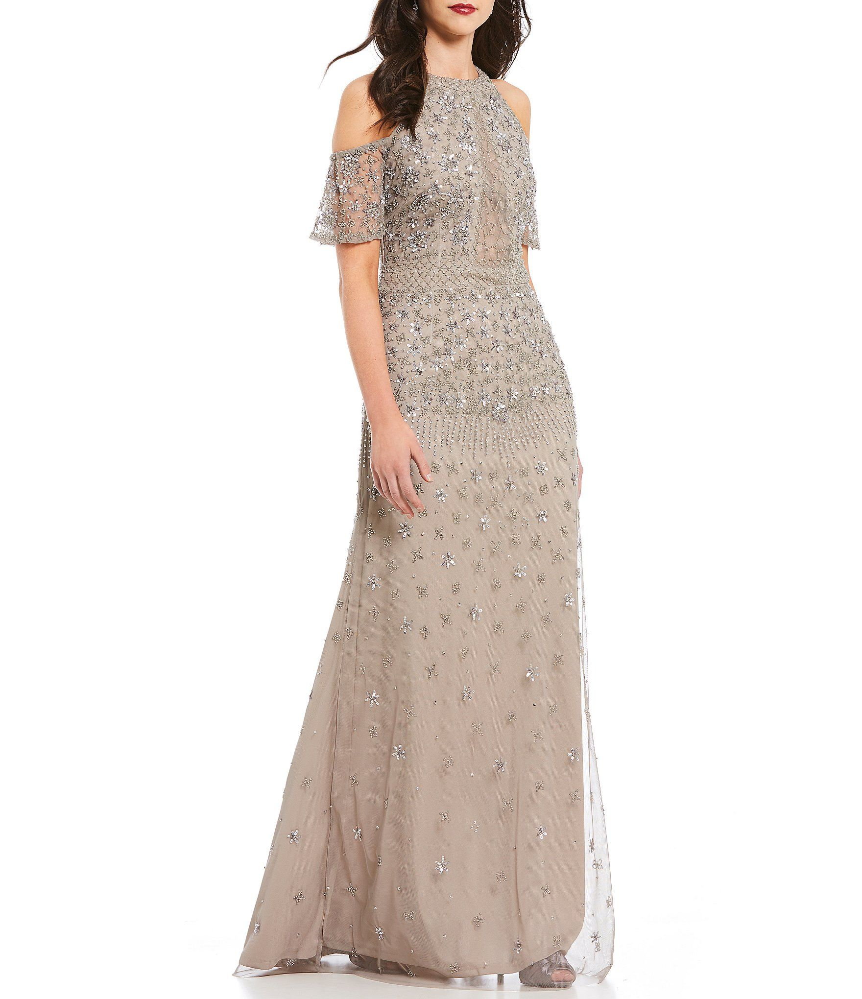 b11f3f0c465 Shop for Adrianna Papell Cold Shoulder Beaded Gown at Dillards.com. Visit  Dillards.com to find clothing