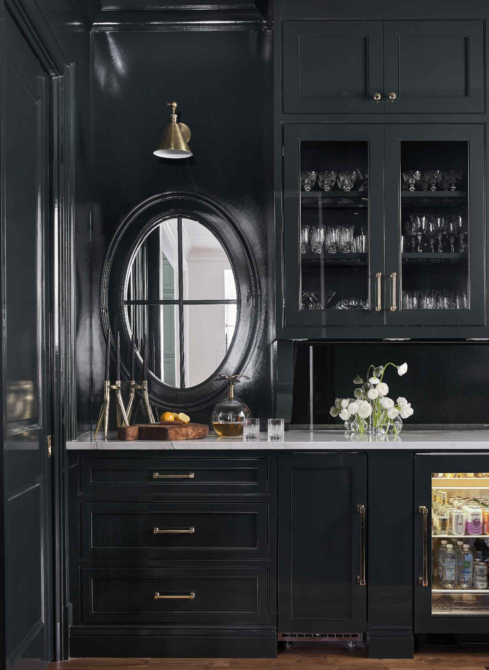 Lacquered Kitchen We Completed Studio Green By Farrow Ball Looks