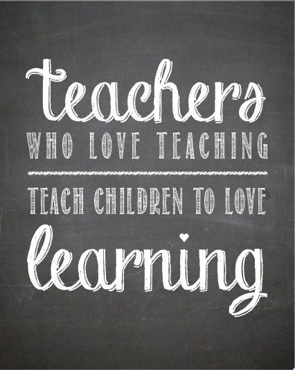 chalkboard print teachers who love teaching teach children to love