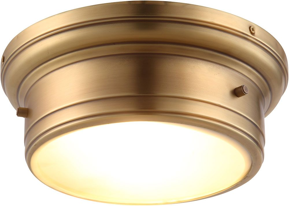 Home Impressions 9-1//2 In White Incandescent Flush Mount Ceiling Light Fixture