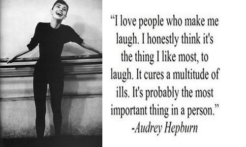 audrey hepburn   Love people, Make me laugh, Quotes