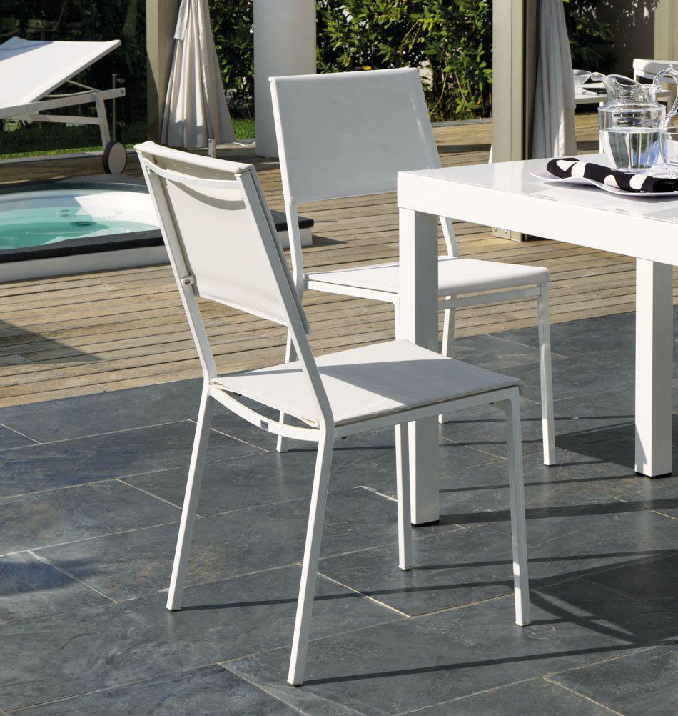 Weißer Metallstuhl Für Balkon Garten Maritimes Flair Www