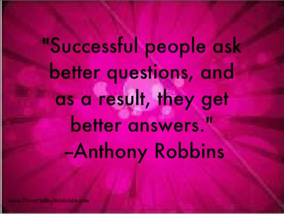 Tony Robbins quote about asking questions This or that