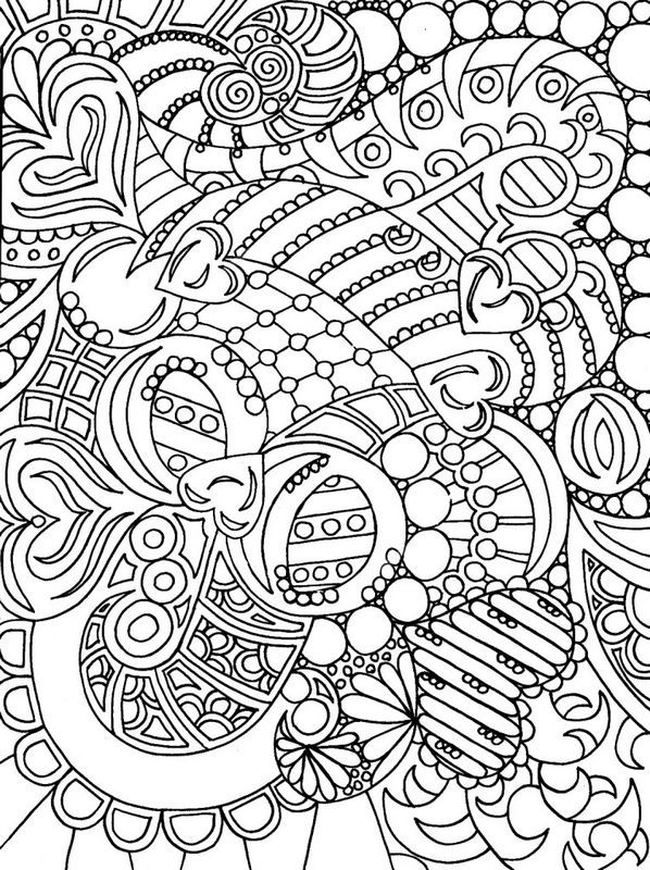 Coloring For Adults Page Many Hearts In This Image Love Coloring Pages Printable Adult Coloring Pages Adult Coloring Books Swear