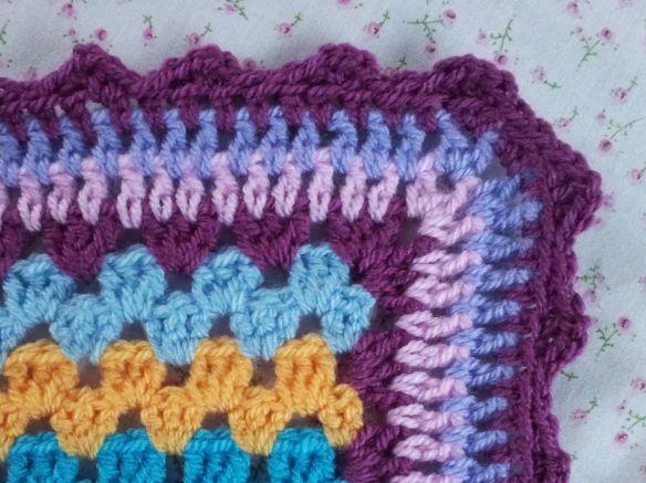 Attic 24 Granny Stripe border round 5 picot for bek's rug