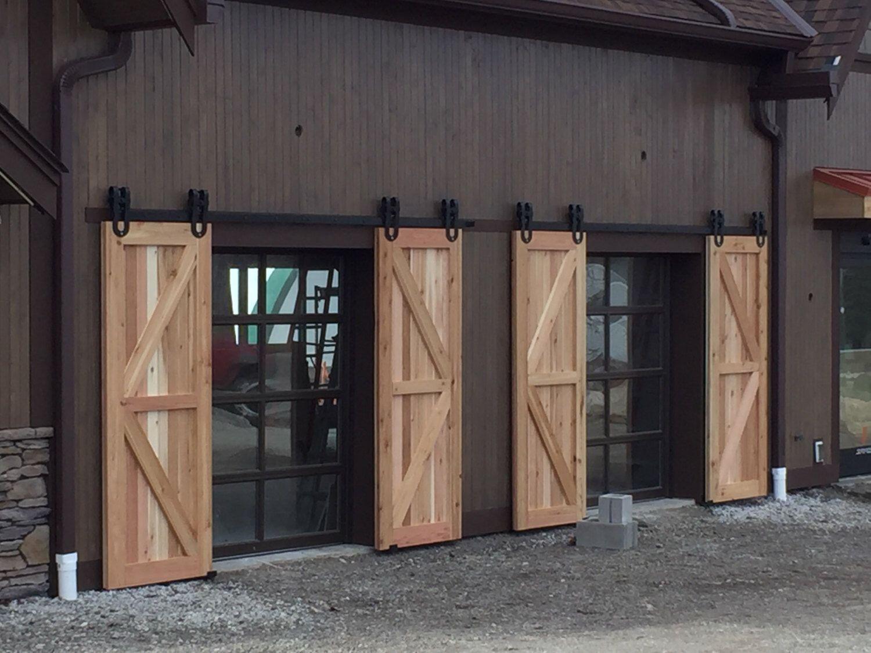 Vintage Industrial Spoked Horseshoe Sliding Steel Barn Wood Door Closet Hardware Track By Thewhiteshanty On Et Exterior Barn Doors Barn Doors Sliding Barn Door