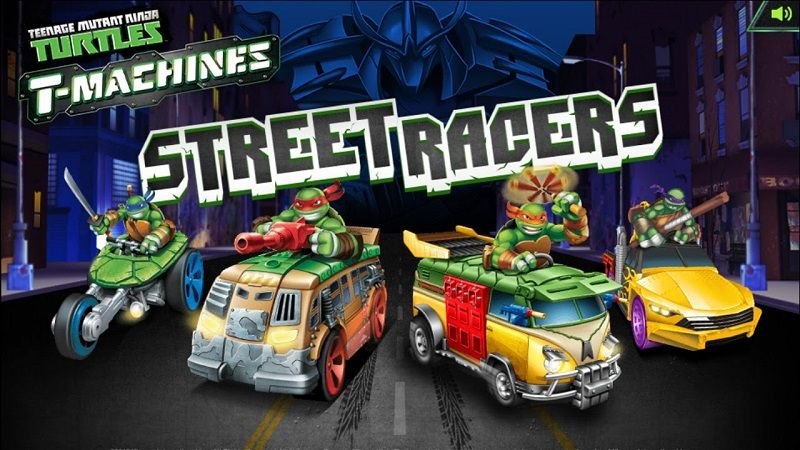 TMNT TMachines Street Racers Jogo do mário, Tartarugas