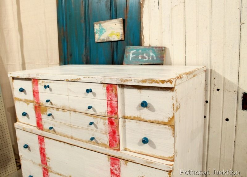 Nautical Inspired Furniture Makeover Petticoat Junktion