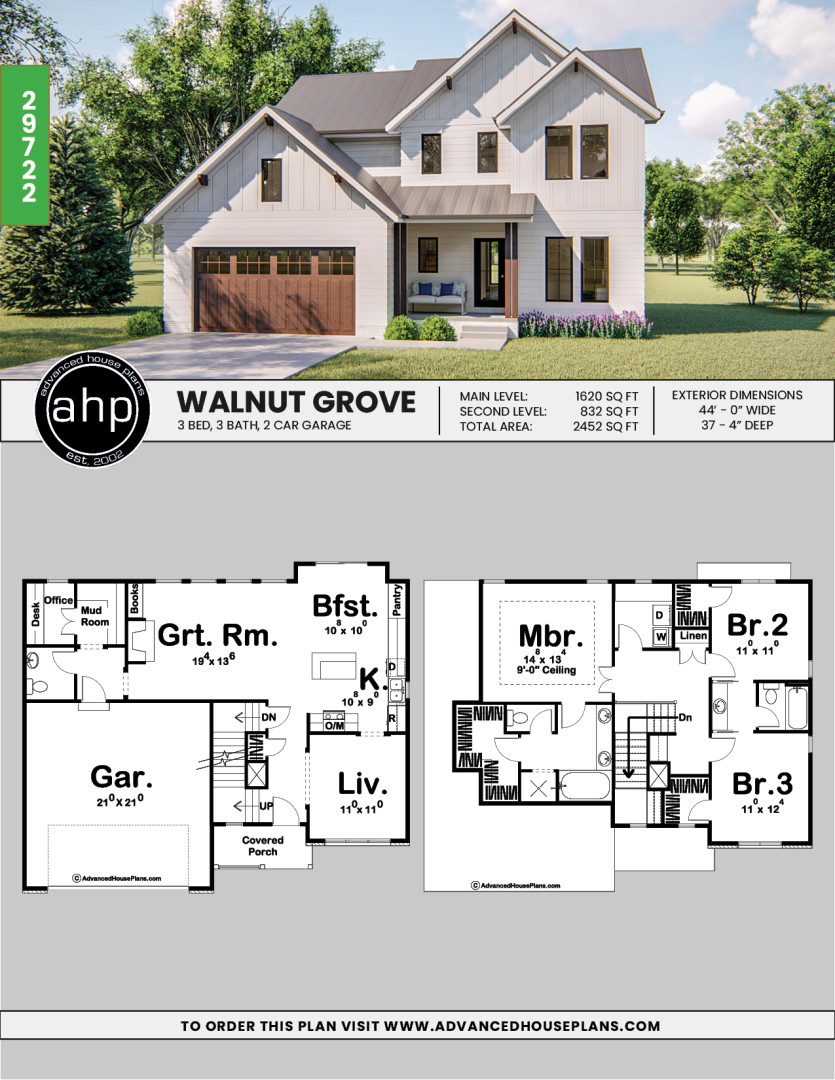 2 Story Modern Farmhouse Plan