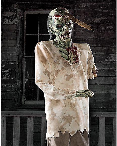 6 Ft Ax Zombie Animatronics   Decorations   Spirithalloween.com