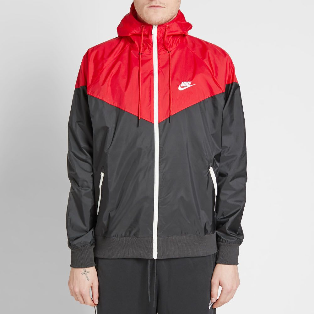 Interprete Fracaso propiedad  Nike Windrunner Jacket Black, Red & Sail   END.   Nike windrunner jacket, Windrunner  jacket, Nike windrunner