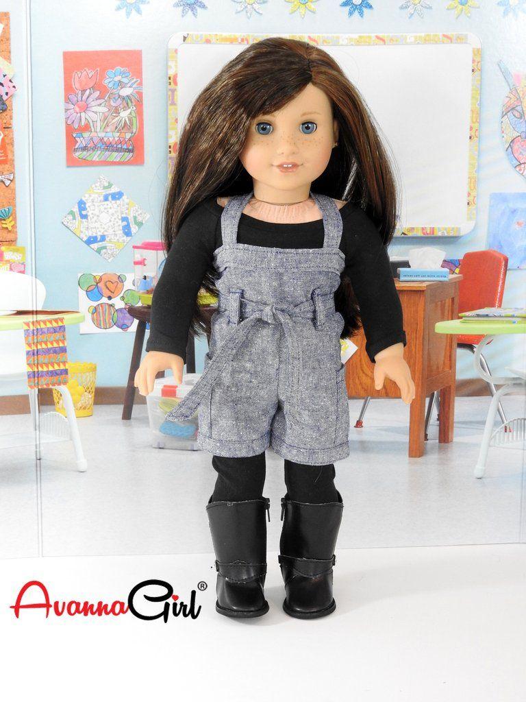 082a7d755b73 American Girl Doll Handmade Back to School Trendy Romper