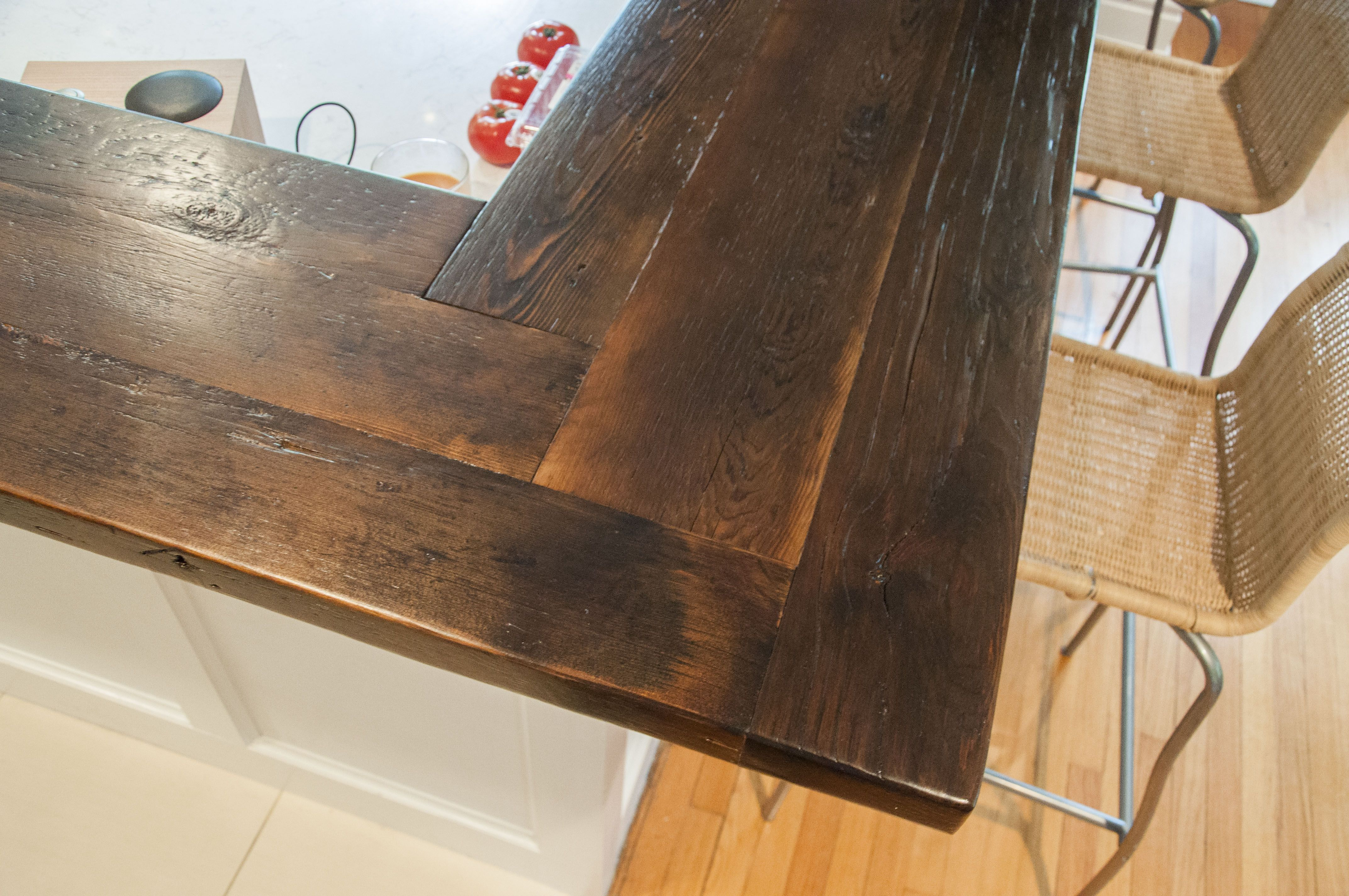 Finger Jointed Reclaimed Pine Counter Top | Wood bar top ...