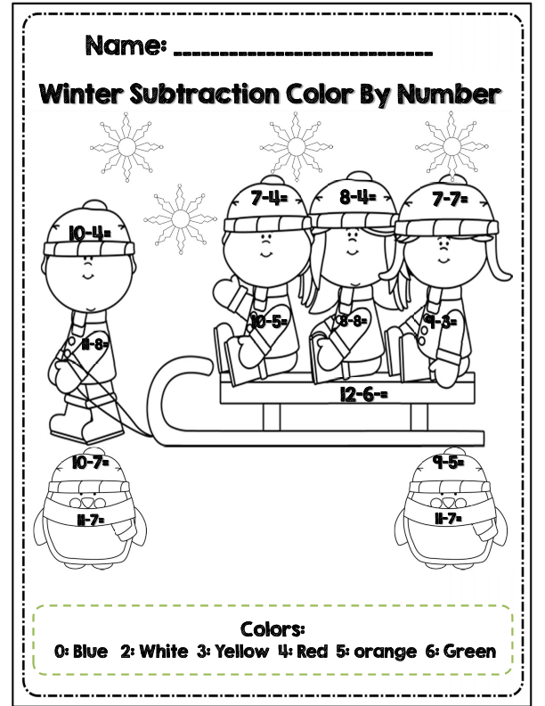 First Grade Winter Math & ELA Packet *Common Core Aligned