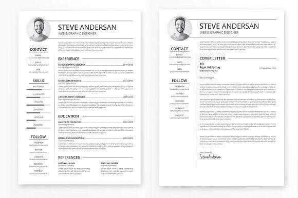 Clean Resume Template Resumetemplate CVtemplate Resumedesign Professionalresume Professionalcv CURRICULUMVITAE Professionalresumetemplate
