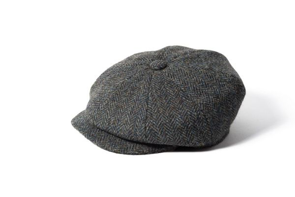 7a6c09aa5 Failsworth Harris Tweed 8 piece Wool Carloway Cap - Grey | Hats and ...