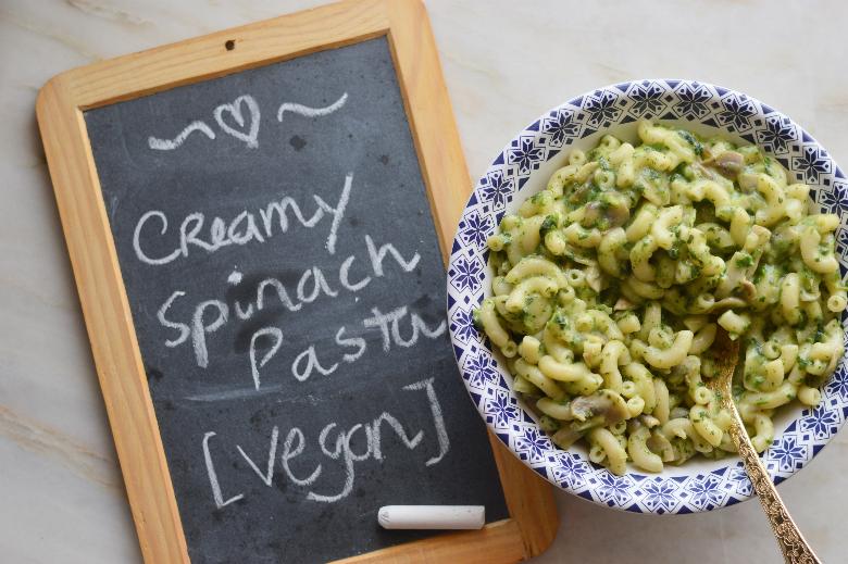 Massa cremosa de espinafres | creamy spinach pasta
