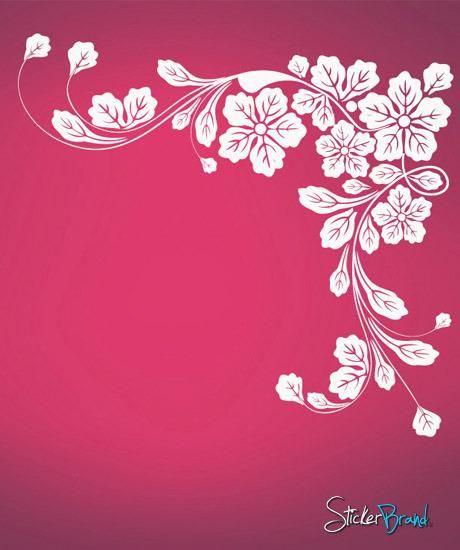 vinyl wall decal sticker floral corner #617   kitchen ideas