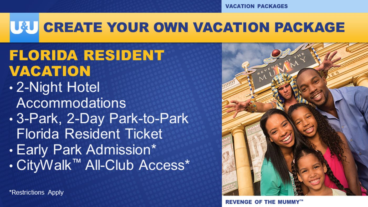 Florida resident create your own vacation package