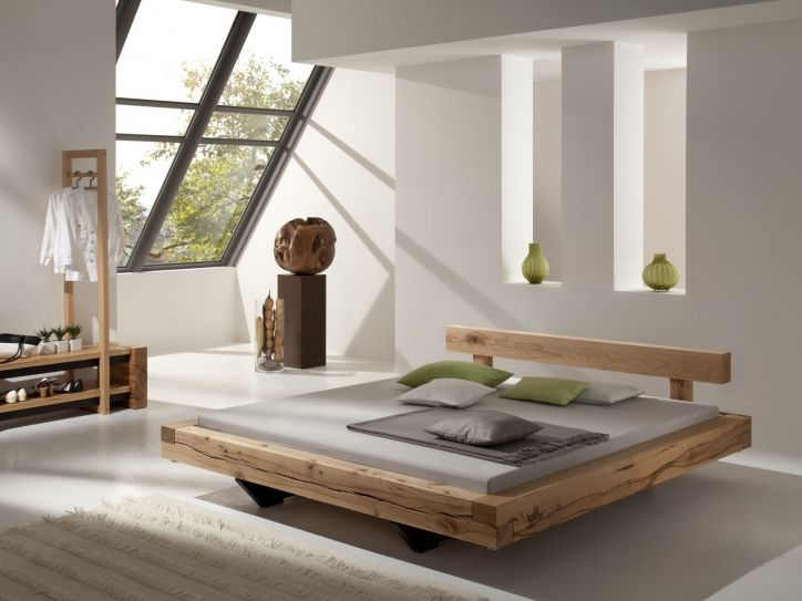 Balkenbett Blumenstein  Modern Wood Bed Designs  Live Edge Wood