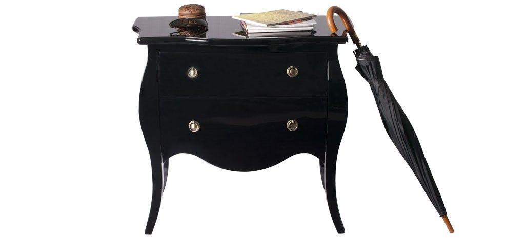 Commode Laquee Noire Pas Chere Decoration Baroque Commode Baroque