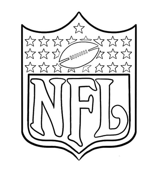 arms of nfl football coloring page for kids