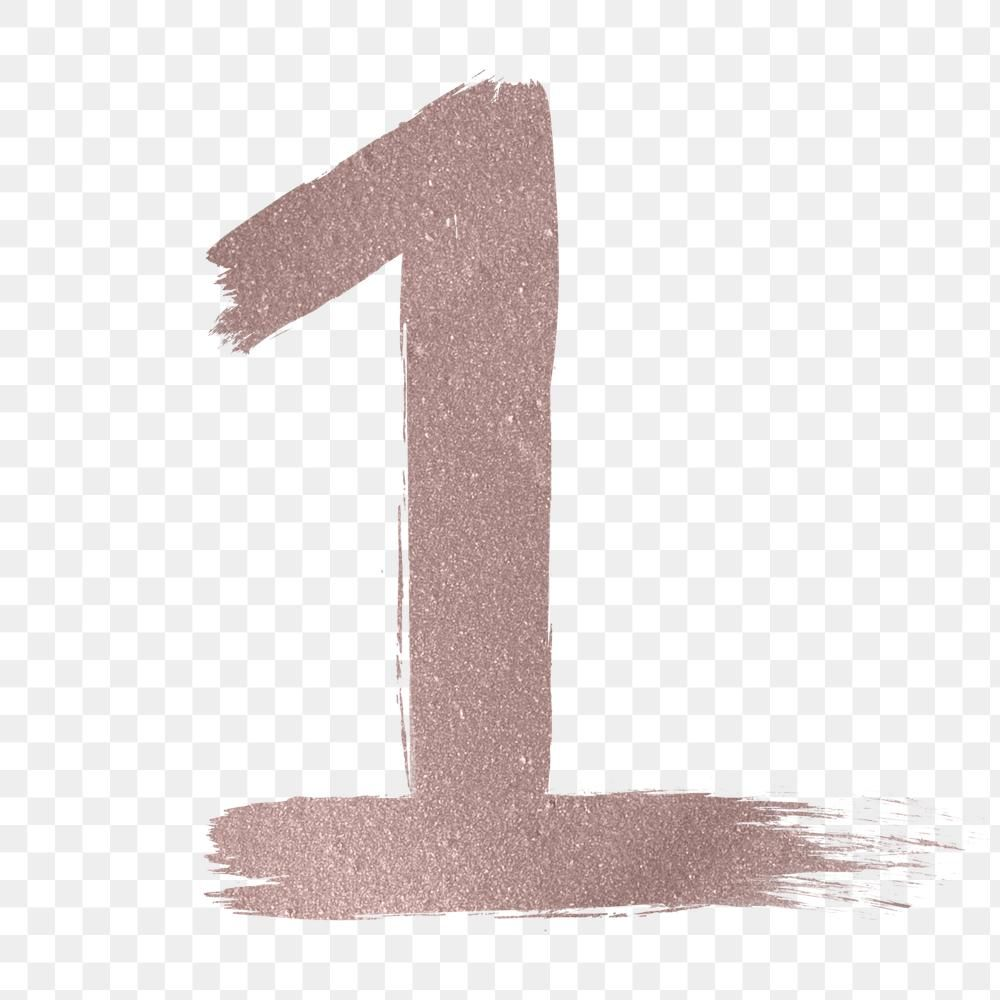 Number 1 Png Brush Stroke Rose Gold Metallic Free Image By Rawpixel Com Free Illustrations Brush Strokes Png