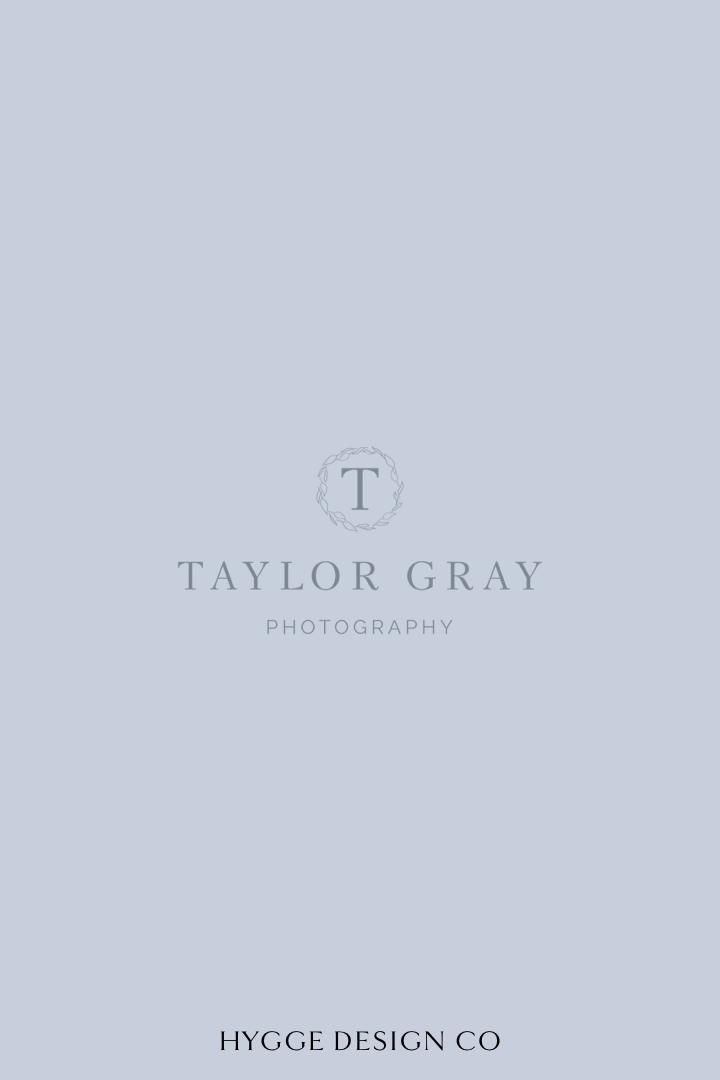 Logo design for wedding photographer | Wedding photographer brand inspiration | Dusty blue branding inspiration