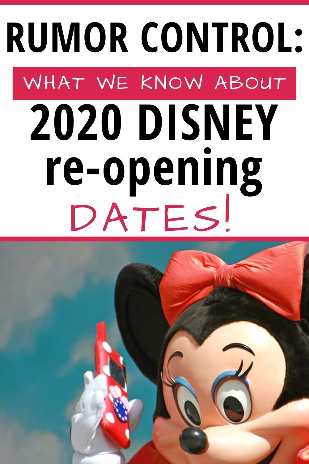What We Know About Disney Re Opening Dates In 2020 Family Disney Trip Disney Planning Disneyland Rides