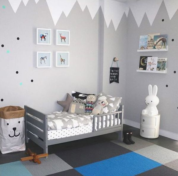 habitaciones infantiles en gris alerta tendencia decoraci n casa pinterest kinderzimmer. Black Bedroom Furniture Sets. Home Design Ideas