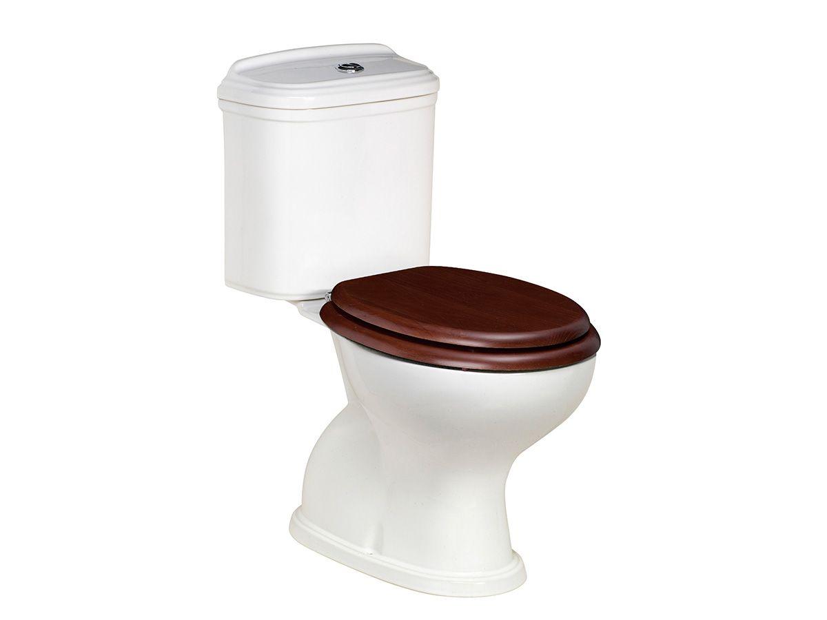 Posh Canterbury Toilet Suite with Oak Cherry Seat   Bathrooms ...