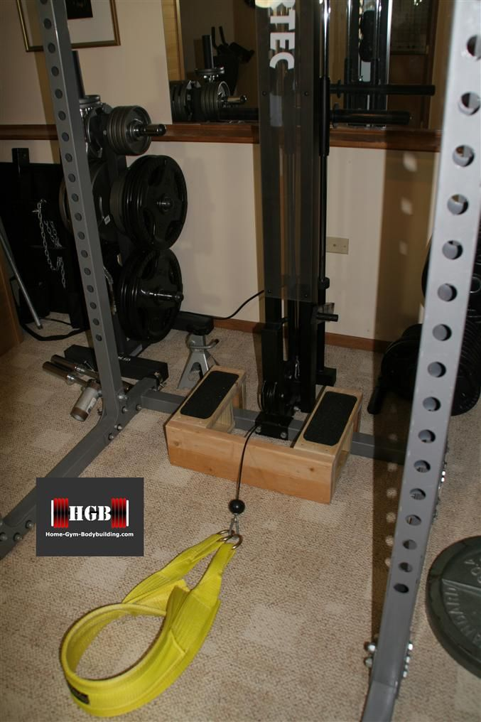 Homemade belt squat will help your