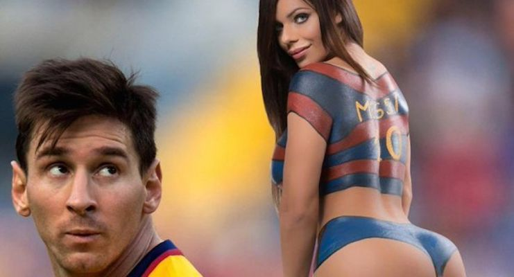 Miss Bum Bum ahora se hizo body paint en honor a Messi - http://bit.ly/1RRzHJ1