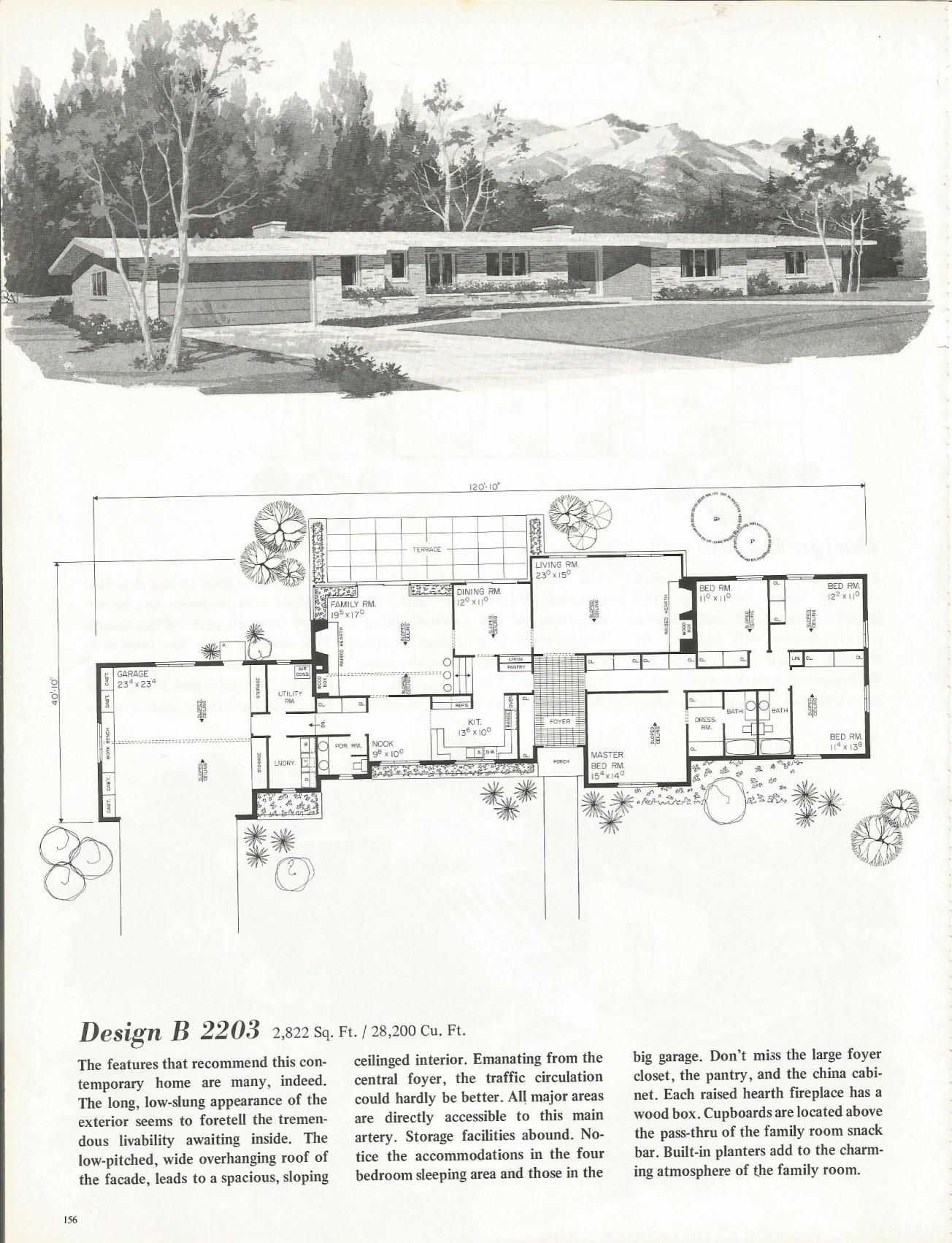 Vintage House Plans Mid Century Homes 1960s Homes