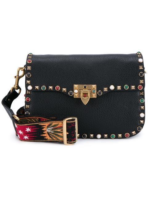 c5cf3701e6 VALENTINO 'Guitar Rockstud Rolling' shoulder bag. #valentino #bags  #shoulder bags #suede #cotton #