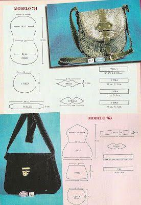 19cfb7031 Sana Adicción: Bolsos y carteras en cuero y crochet | moldes ...