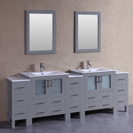 96 Inch Bosconi Aw230u3s Double Vanity Vanity Glass Vanity