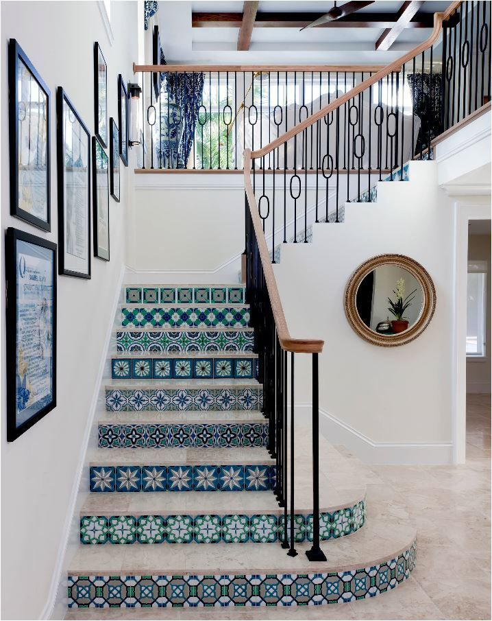 home interior design stairs%0A Tiled Staircases  Centsational Girl   Hacienda StyleHome DesignInterior