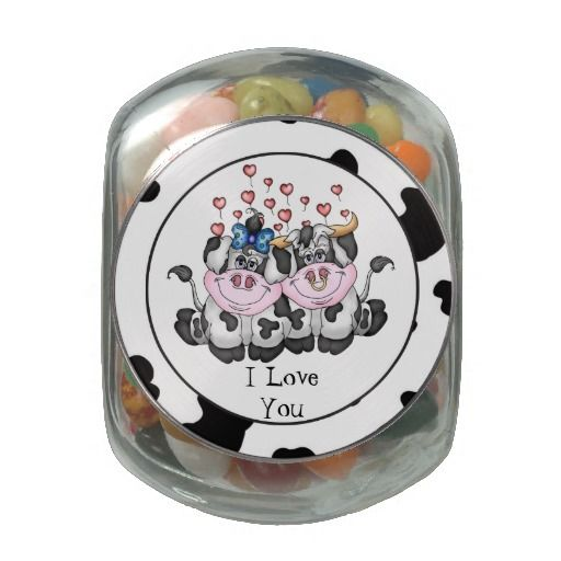 I Love You Cows glass candy jar | RGP - Love & Romance | Pinterest ...