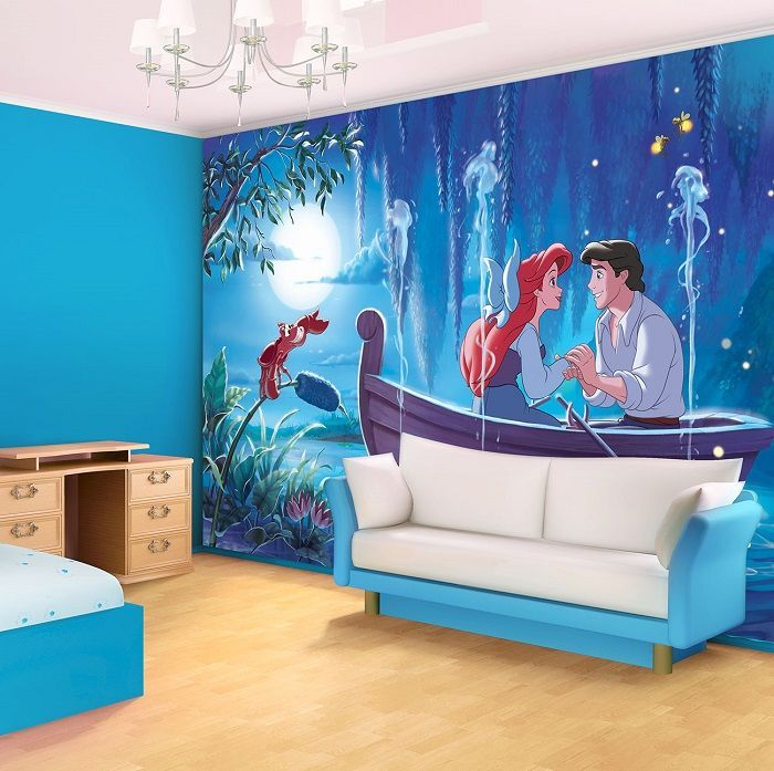 Ariel the little mermaid disney character giant wall mural for Disney ariel wall mural