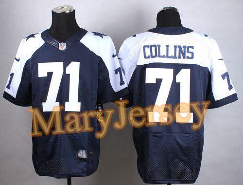 eed209315 Nike Cowboys La el Collins Navy Blue Thanksgiving Throwback Men s Stitched  NFL Elite Jersey And Bengals Vontaze Burfict 55 jersey