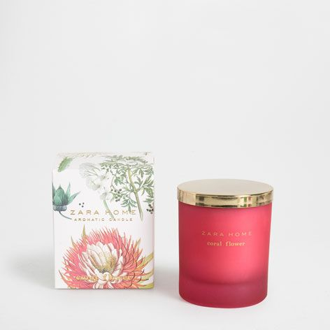 13 Bougie Aromatique Coral Flower Special Edition Parfum Zara