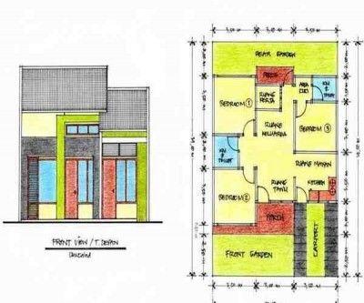 Sketsa Rumah Minimalis 1 Lantai Denah Rumah Rumah Minimalis Desain Rumah