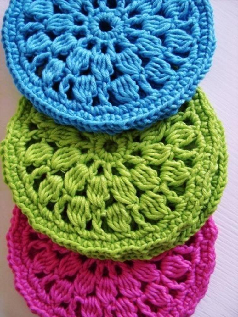 Crochet Round Coasters Pattern Coasters Crochet Crochet