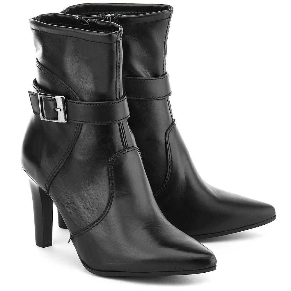 Tamaris Botki Czarne Skorzane Botki Damskie 1 25808 35 001 Ankle Boot Shoes Boots