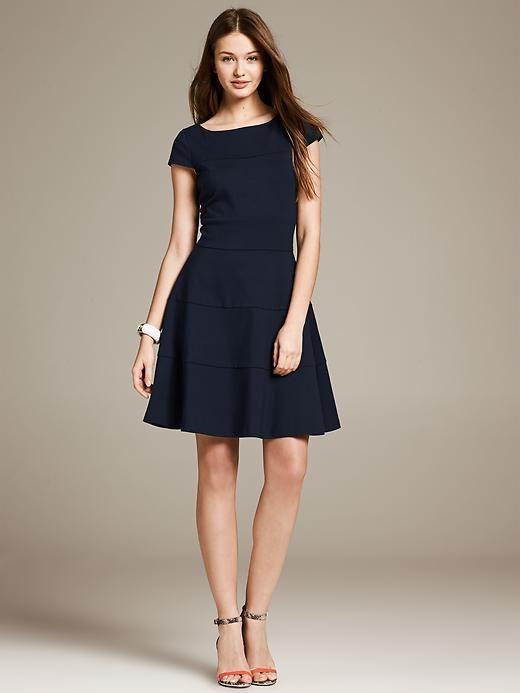 Seamed Fit And Flare Dress Dresses Fit N Flare Dress Flare Dress Fit And Flare