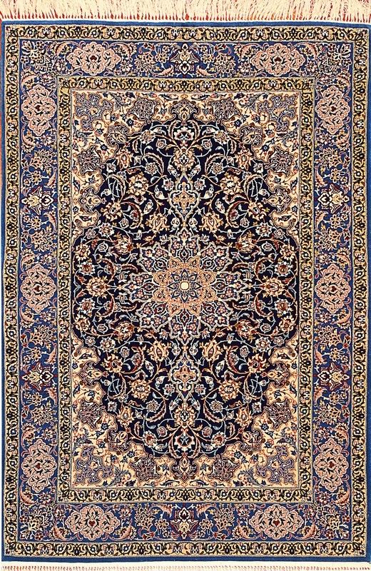 Tappeto #Persiano #Esfahan extra fine con trama e ordito in seta ...